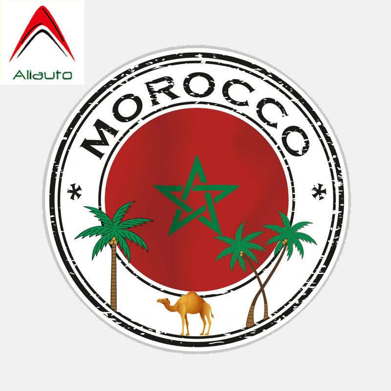 Aliauto Creatieve Auto Sticker Marokko Vlag Decor PVC Sticker Cover Krassen voor Kia Rio Passat B6 Lada Vesta Peugeot, 14cm * 14cm