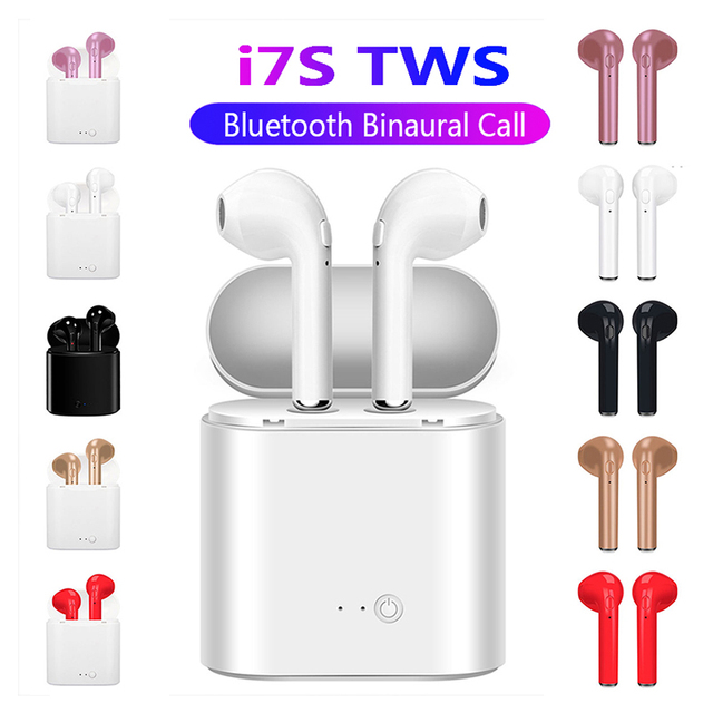 I7s TWS Bluetooth Earphone Stereo Earbud Bluetooth Headset with Charging Pod Wireless Headsets for All Smart Phone 5