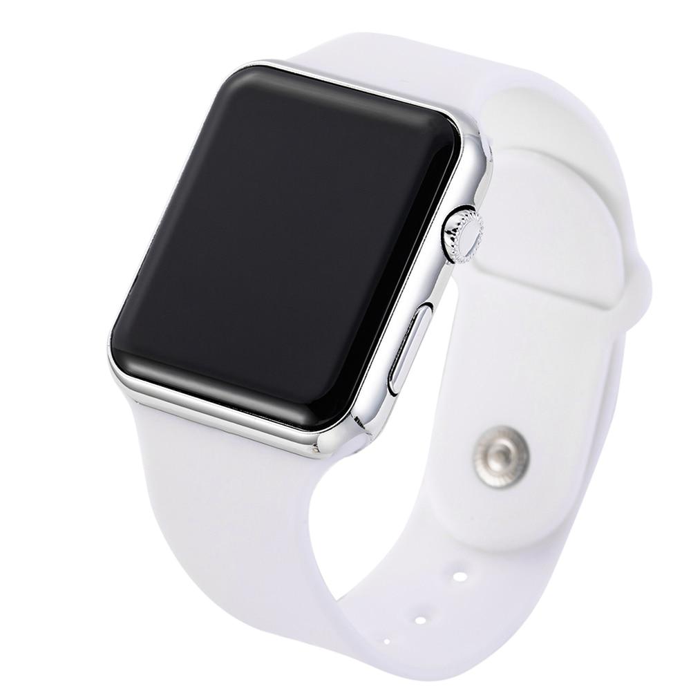 2019 New LED Watch Pink Strap For Digital Watch Silicone Band Women Watch Men Watch Wrist Watch ремешок для часов Montre Femme