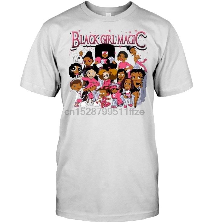 Black Girl Magic Harajuku Streetwear Shirt Men Boondocks T-Shirt