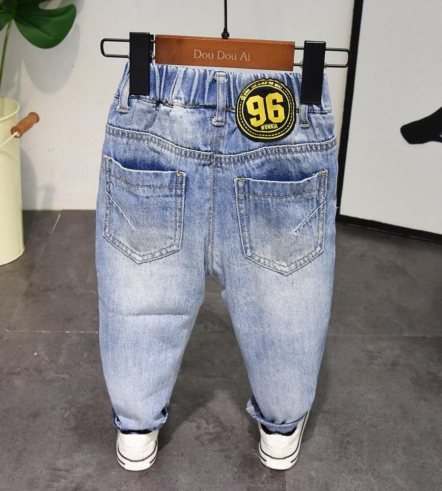 Image 3 - Новые весенне осенние стильные джинсы для маленьких мальчиков, джинсы для мальчиков 2 6 лет, штаны для мальчиков, чистый хлопок, высокое качество, для 2 6 летДжинсы   -
