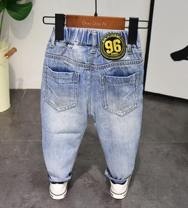 Image 3 - New Spring Autumn Style Baby Boy Jeans Pants 2 6years Age Kids Boys Denim Jeans Boys Trousers Pure Cotton High Quality 2 6years