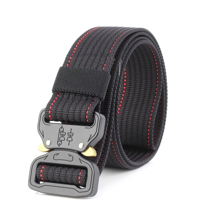 10 Colors Military Equipment Solid Belt Men Tactical Designer Belts For Jeans Pants Nylon Strap Canvas Metal Buckle Waist Belt