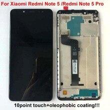 الأصلي AAA جودة LCD الإطار ل شاومي Redmi نوت 5 برو شاشة الكريستال السائل قطع غيار للشاشة ل Redmi نوت 5 LCD أنف العجل 636