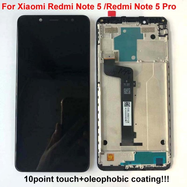 Original AAA Quality LCD+Frame For Xiaomi Redmi Note 5 Pro LCD Display Screen Replacement For Redmi Note 5 LCD Snapdragon 636