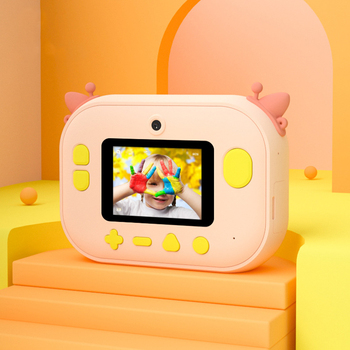 Portable Digital Creative Print Camera DIY Cartoon and 32GB SD Card Child - discount item  33% OFF Electronic Toys