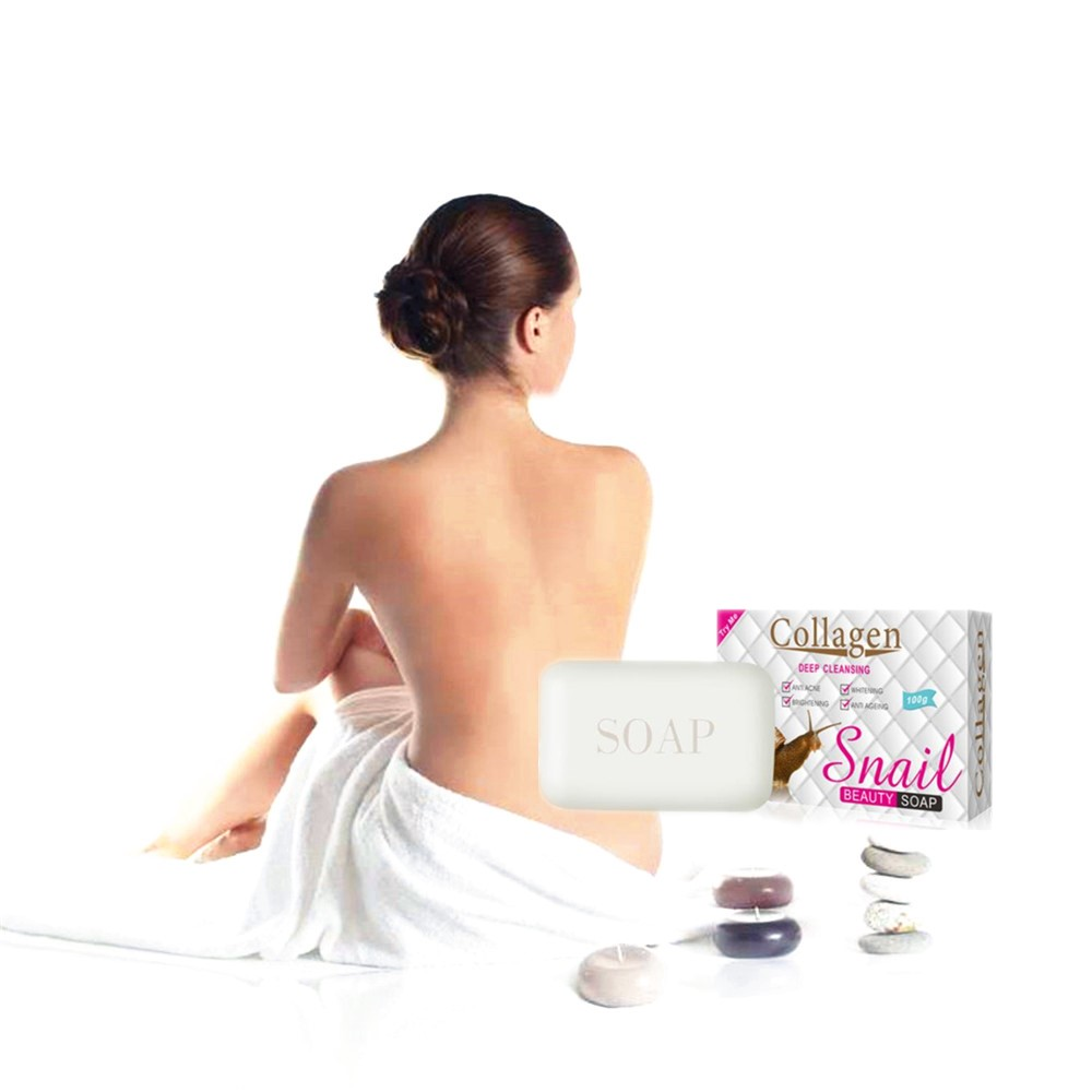 Pure Natural Snails Protein Essence White Soap Removes Acaroid Mites, Making Skin Smooth And Delicate, Improving Skin Condition
