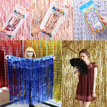 Long Curling Ribbon Sparkled Tassel Happy Birthday Party DIY Decorations Kids  Wedding and Anniversary Decoration 2M*1M