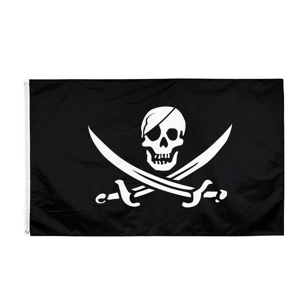 Jack Rackham Cross Swords Skull Pirate Flag 3x5 Polyester
