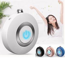 Air Purifier Usb Portable Personal Wearable Necklace Negative Ionizer Anion Air Cleaner Air Freshener Drop Shipping Apr6 free shipping solar energy air purifier usb charge portable air cleaner