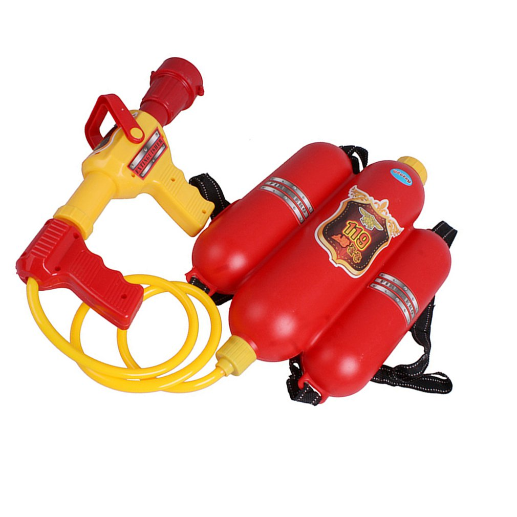 Baby Backpack Fireman Toy Water Gun Sprayer For Kids Nozzle Air Pressure Water Gun For Beach Lake Tourism Outdoor Activities Toy