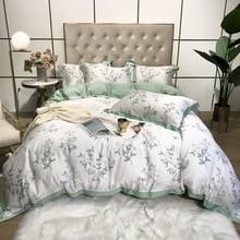 Bedding-Set Duvet-Cover Bedlinen Satin Silk Bedspread TUTUBIRD Feeling Forest Floral