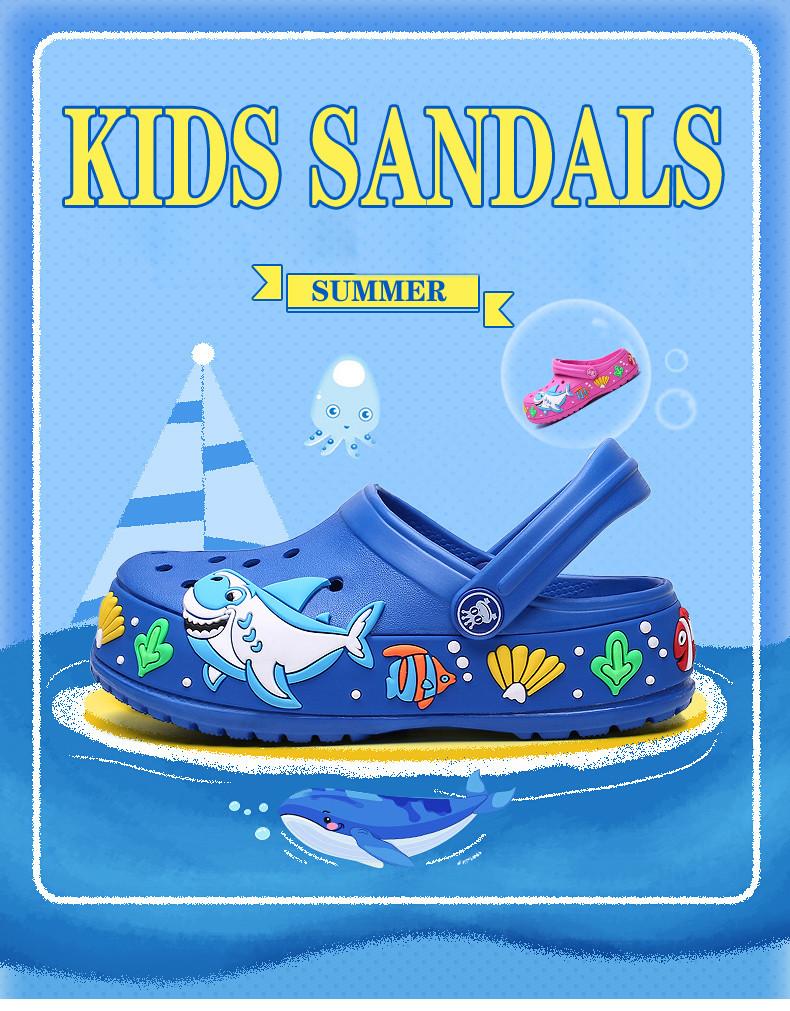 2017 New fashion children garden shoes children cartoon sandal babies summer slippers high quality kids garden children sandals (1)
