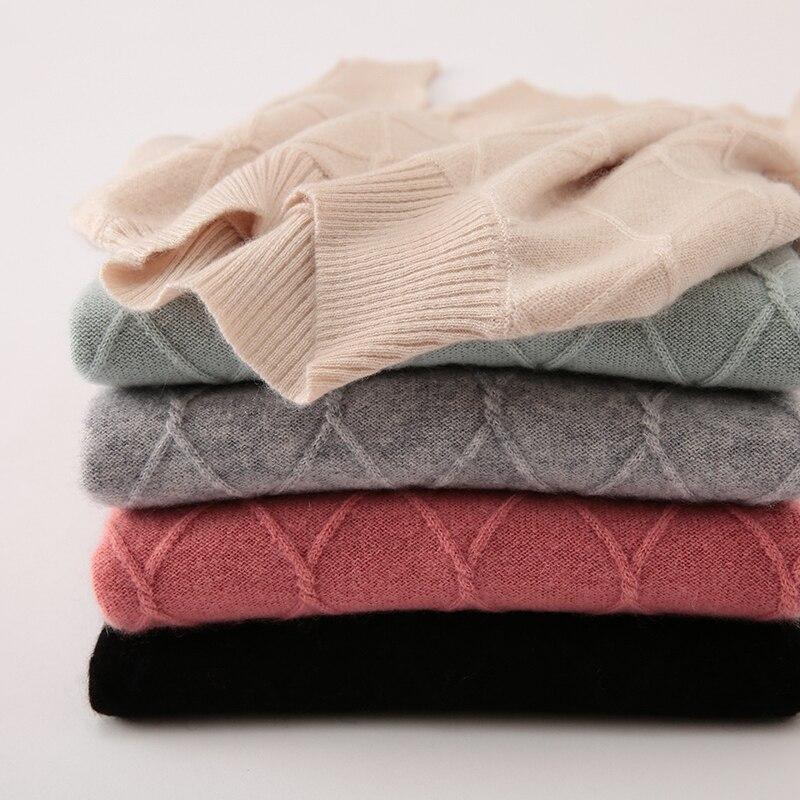 Signore casuali mongolia maglione di cachemire, manica lunga, elegante maglione, maglione di natale, donne maglione invierno 2019 - 6