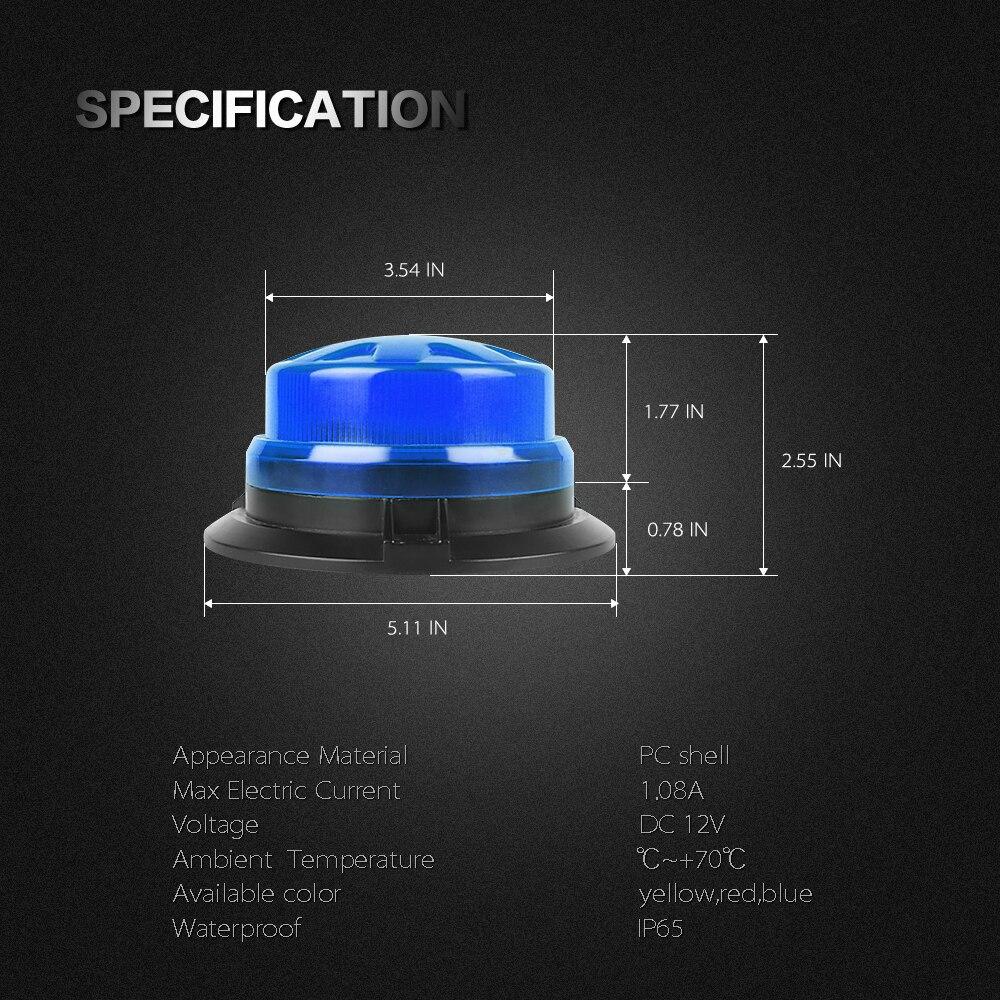 azul rotativa beacon truck emergência tráfego segurança lâmpada de sinal magnético