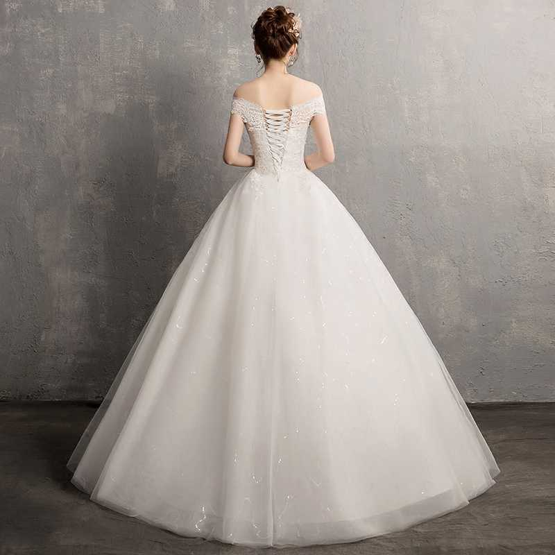 Vestido דה Novia 2019 תחרה חתונה שמלת אופנה כלה שמלת מהיר חינם