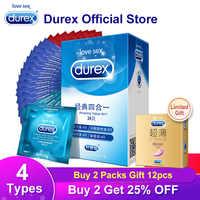 Durex préservatifs 4 Types Ultra mince coq préservatif intime marchandises produits de sexe en caoutchouc naturel Latex manchon de pénis sexe pour les hommes
