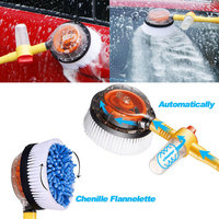 Vehemo Spray Automatic Washing Brush Nozzles Electric Car Wash Brush Tool Automatic Rotate Brush for Maintenance Clean Flow