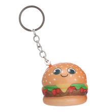 2019 HOT Decompression toys Squishy Cute Cartoon Hamburger Slow Rising Cream Scented Keychain Stress Relief Funny Toys Squish(China)
