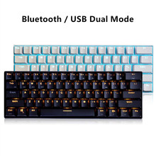 RK61 RGB Mini Mechanical Gaming Keyboard Bluetooth USB Backlit Keyboard Cherry Axis for Mac Windows Laptop Tablet Smart Phone mini bluetooth remote keyboard for windows mac os linux android google smart tv backlit keyboard convenient operation in dark