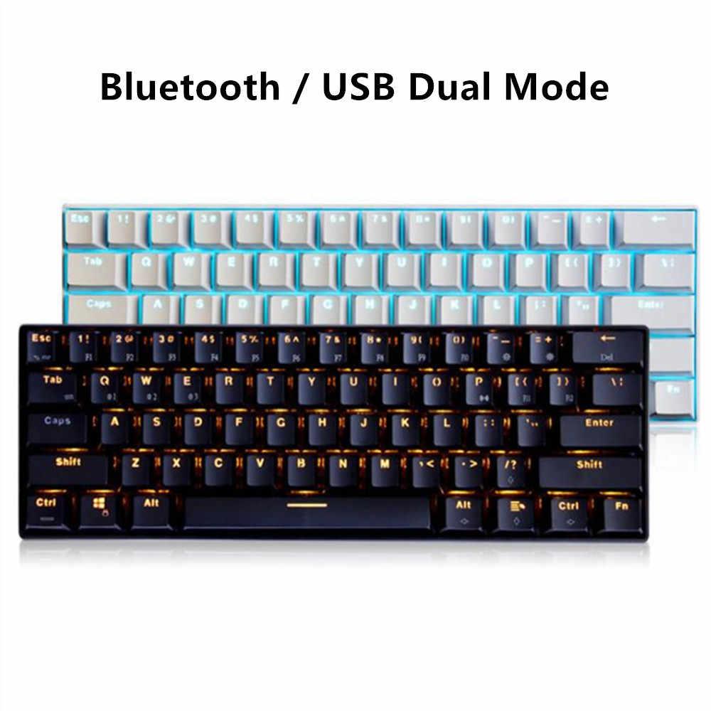 RK61 RGB Mini teclado mecánico para juegos Bluetooth USB Teclado retroiluminado Cherry Axis para Mac Windows ordenador portátil tableta teléfono inteligente