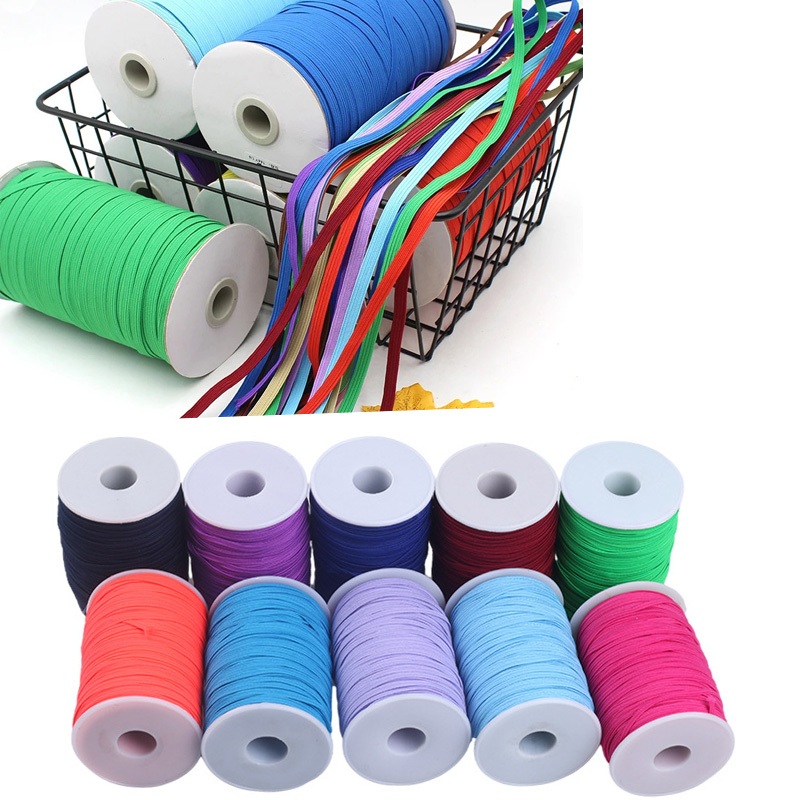 Mask Elastic Band 6mm Colorful Soft Latex Yarn Elastic Rubber Band DIY Pregnant Baby Sewing Garment Applique Bags Accessories