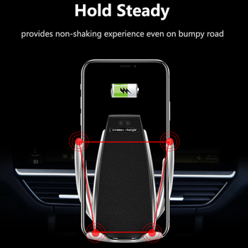 Wireless Car Charger for iPhone Samsung Huawei Smart Auto Clamp 10W Qi Fast Charging Car Mount Wireless Phone Charger Holder 10W 4