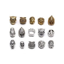 10pcs lot Gold Silver Charm Beads Buddha Sparta leopard Lion Heads Spacer Beads Supplies For Jewelry Finding Making DIY Bracelet cheap St kunkka Zinc Alloy Metal Zine Alloy Animal 10mm Fashion AC0047 Gift Bracelet leopard Bracelet Antique Gold Antique Silver