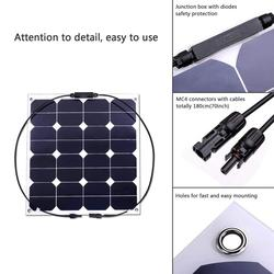 High-efficient solar panel 50w flexible solar panel sunpower solar cell for boat car home and other application