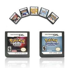 Edición plata SoulSilver DS Nintendo cartucho de juego consola tarjeta inglés para DS 3DS 2DS NDS Pokemon serie de Edición oro HeartGold perla platino