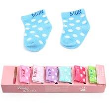 6 Pair Baby Boys Girls Infant Cotton Cartoon Floral Pattern Socks Warm Anti Slip Floor Socks Leg Warmer 2021