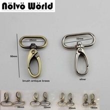 30pcs 19mm 25mm 32mm 38mm  trigger snap hook hand bag brush antique brass  swivel clasp hooks hardware accessory diy