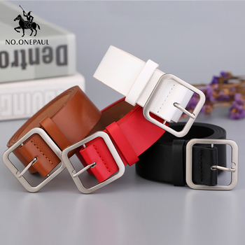 NO.ONEPAUL Belt female Japanese pin buckle decoration elegant simple wild student retro jean new design ladie belt free shipping