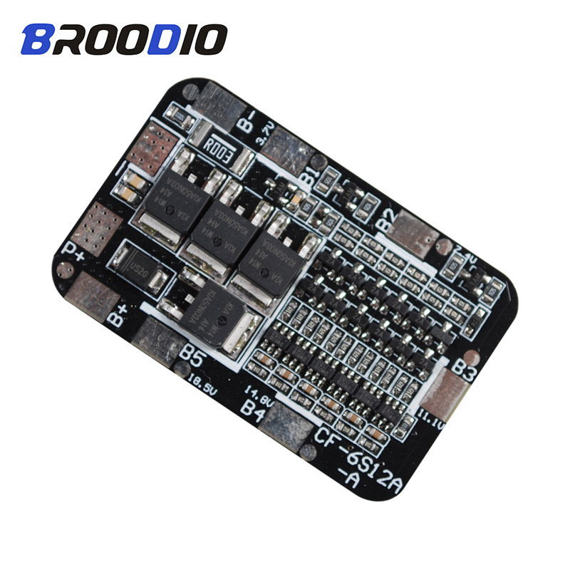 BMS 6S 25.2V 26V 18650 Lithium Protection Board For 6 Groups Pack 18650 PCB BMS Li-ion Battery Cell Module Battery Accessories