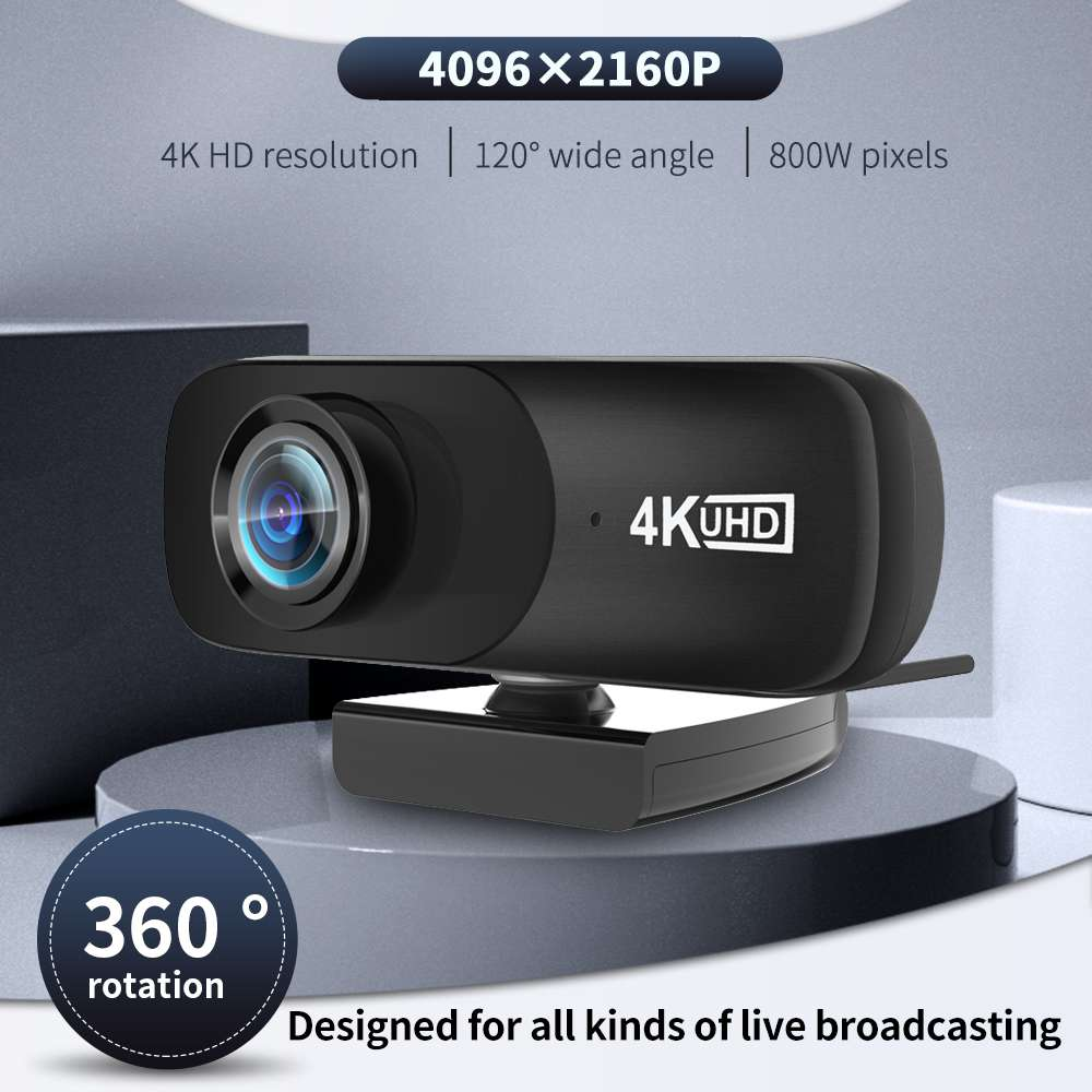 TISHRIC C160 4K 4096*2160 Webcam Web Cam Web Camera With Microphone For Computer Live Broadcast Video Calling Conference