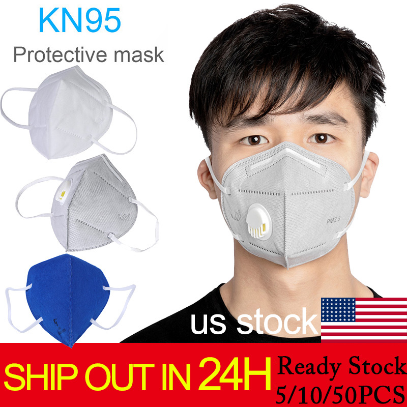 10pcs/5PCS Kf94 N95 Folding Valved Dust Mask PM2.5 Anti FOG Formaldehyde Bad Smell Bacteria Proof Mouth Mask Anti Bacteria FFP