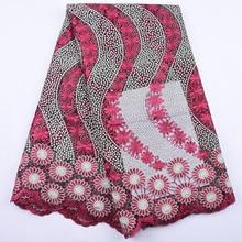 Haolin Afrikaanse Kant Stof Hoge Kwaliteit Franse Tulle Lace Stof 5 Yards Vrouwen Wedding Party Dress Nigeriaanse Kant Stof Stenen