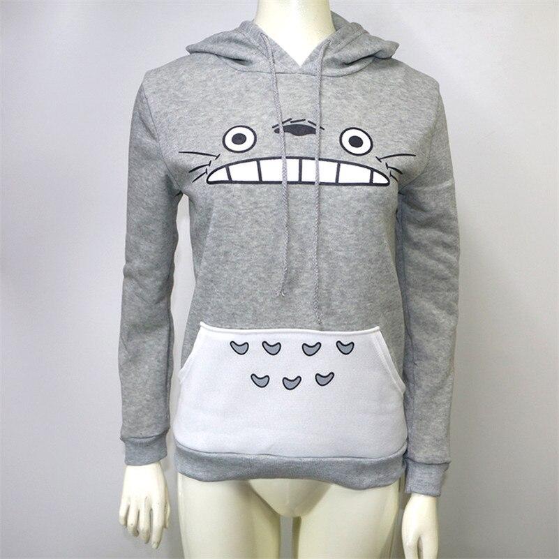2020 New Cartoon Totoro Women Man Couple Hoodies Sweatshirts Kawaii Harajuku Cute Unisex Pullover Tops Korean Japanese Anime