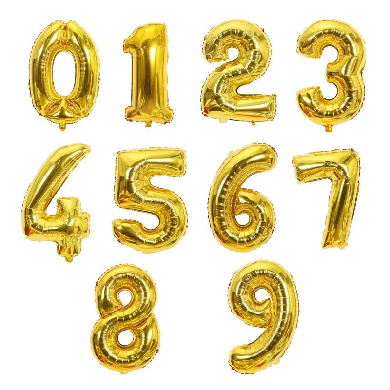 Большой размер, золотые, серебряные, розовые, золотые цифры, воздушные шары для дня рождения, свадьбы, вечеринки, Детские шары-4