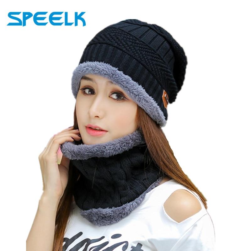 2019 New Winter Knit Hats Women Thick Warm Beanies Hat Men Riding Outdoor Beanie Skullies Hats Unisex Knitted Bonnet Winter Cap