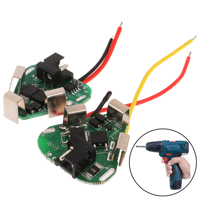 3S 12V DC Electric Tools Hand Lithium Drill Power Li-ion Battery Protection Board BMS Circuit 18650 3 Cell Packs 20A PCB Module