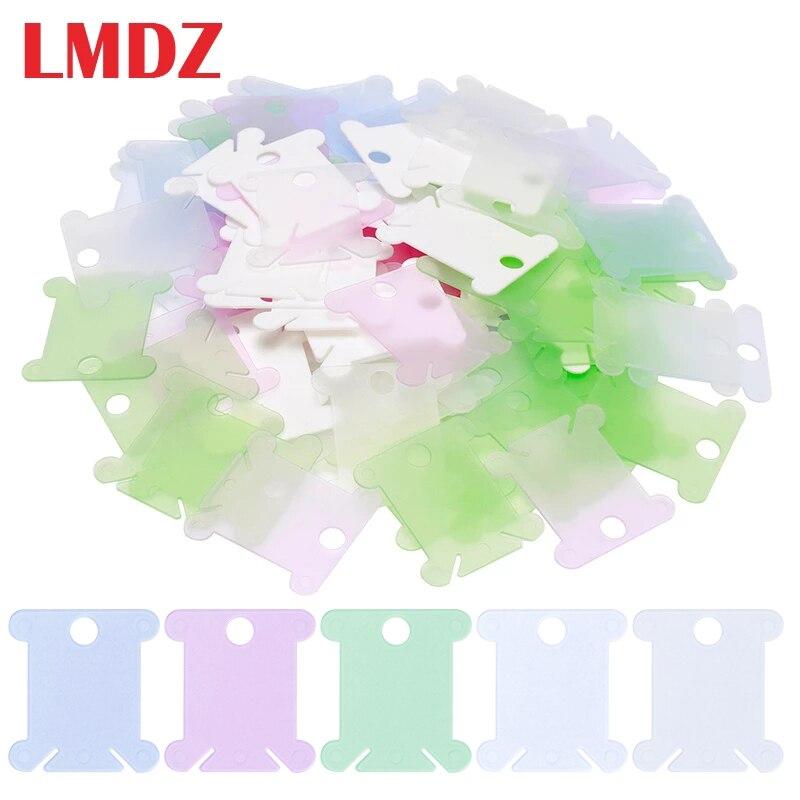 LMDZ porte-fil de broderie fil de soie | Support de rangement de point de croix, fil à coudre en plastique, carte organisateur de fil