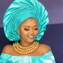 Dudo Juego de joyería con cuentas africanas, juego de collar de cristal, boda, novia nigeriana, 3 fotos, Envío Gratis, oro 2018