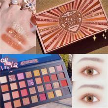 Eye Shadow Palette Changeable Pink Violet Nude Makeup 32 Colors Matte Shimmer Glitter Eyeshadow Powder Waterproof Long Lasting