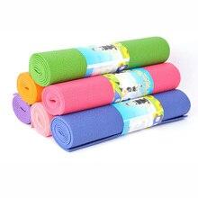 173см ПВХ коврик для йоги нескользящие одеяло гимнастические Спорт Здоровье похудеть Фитнес-упражнения коврик женщину/мужчину
