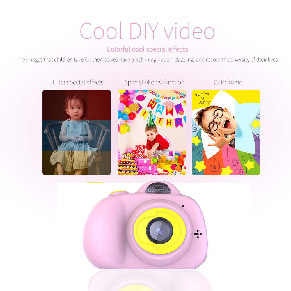 H9e3ffb9578b64fe5b39eeac3fe361b8dC KIds Camera HD Child Camera Mini Digital Toy Camera Photography Children Educational Toddler Toy Photo Camera For Children Gifts