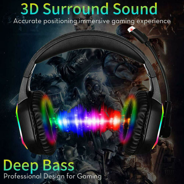 Professional Games Earphones LCD Portable HIFI Headset With Microphone Wired Headphones Audio Adjustable For PC phone 5