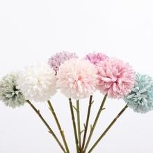 Chrysanthemum Bridal Bouquet Modern-Vase Artificial-Flowers Wedding-Decoration Dining-Table