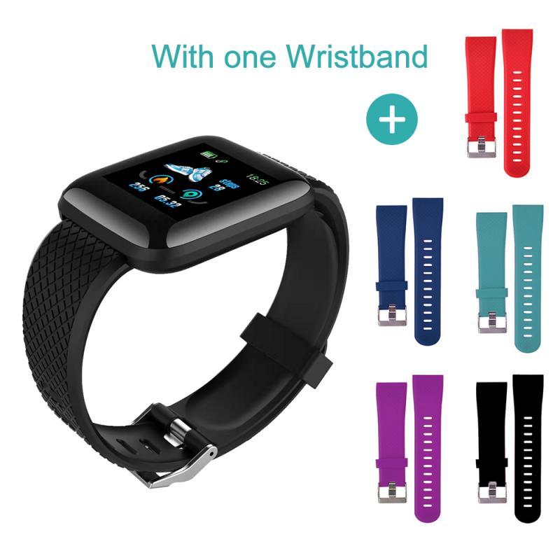 Monochrome Smart Watch Strap For 116 Plus Replaceable Strap For 116 Plus Smart Watch Accessories Sweatproof