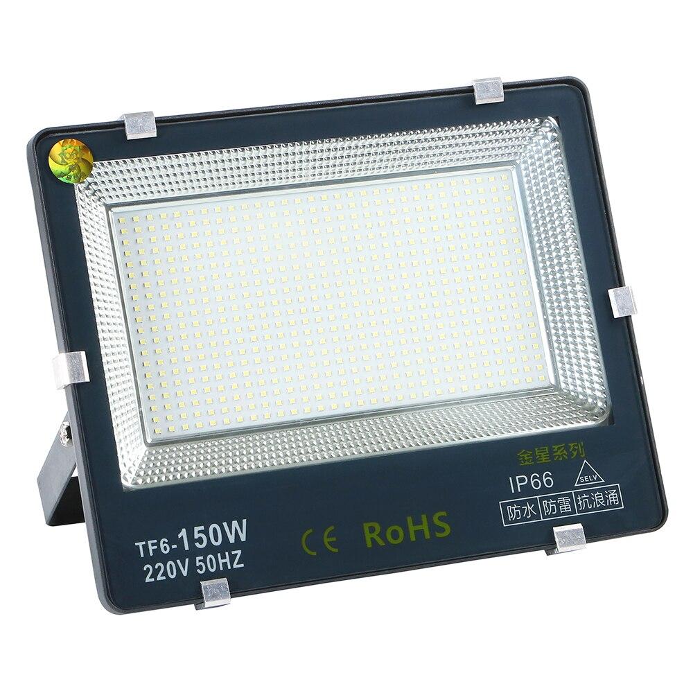 150 Вт СИД прожекторное освещение Ip66 Водонепроницаемый Светодиодный прожектор для улицы прожектор дневного света Белый 220V Led безопасности прожектор садовая Светодиодная лампа